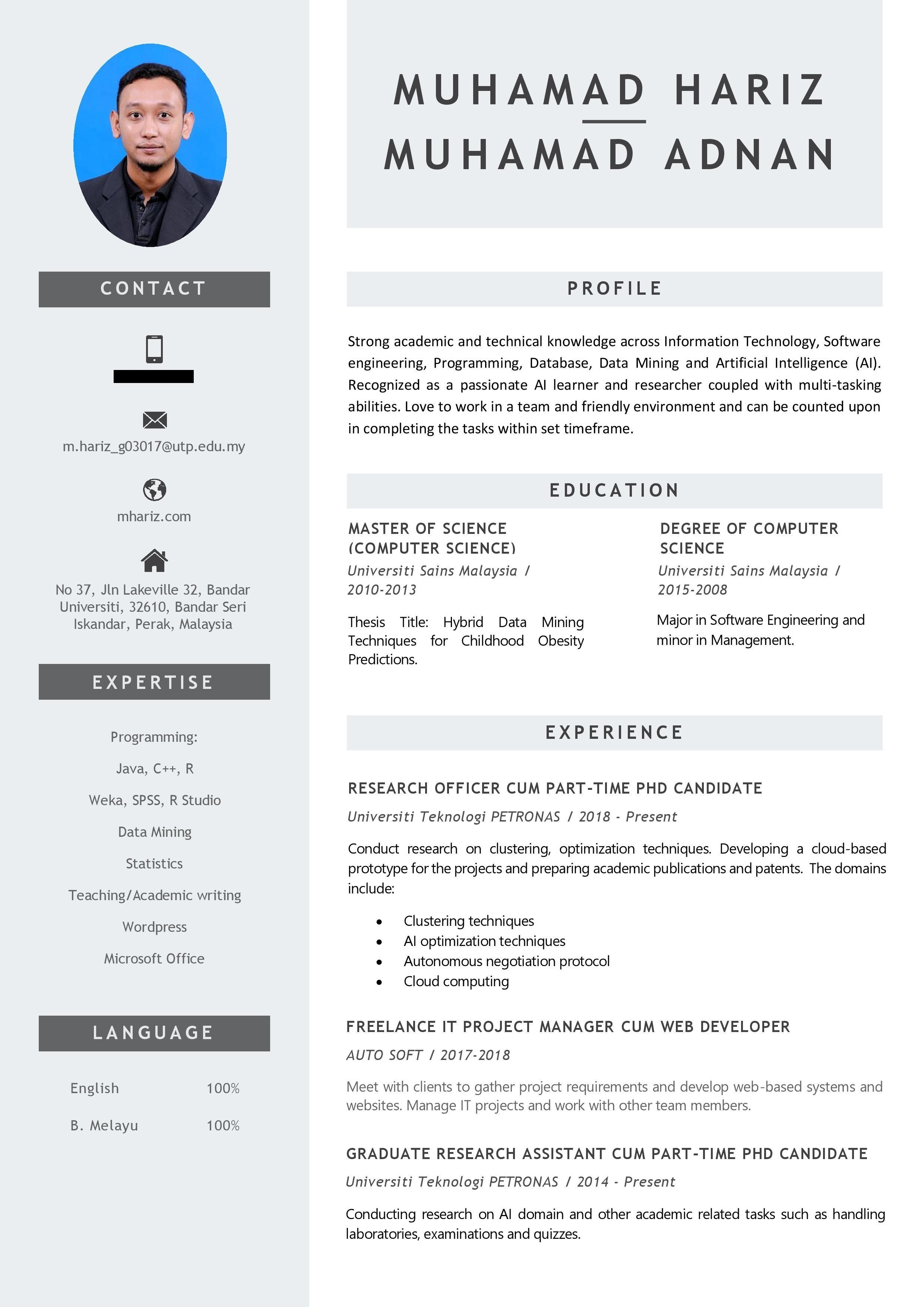 Contoh Resume Lengkap 2019 - BR1M Online